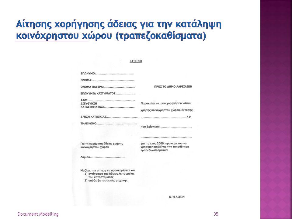 Αίτησης χορήγησης άδειας για την κατάληψη κοινόχρηστου χώρου (τραπεζοκαθίσματα)