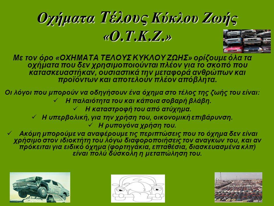 Οχήματα Τέλους Κύκλου Ζωής «Ο.Τ.Κ.Ζ.»