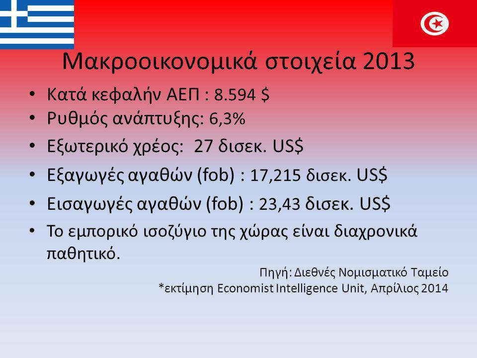 Μακροοικονομικά στοιχεία 2013