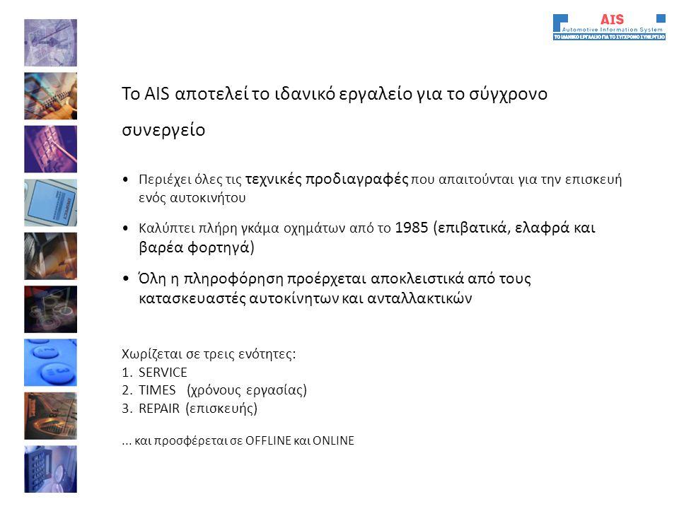 Το AIS αποτελεί το ιδανικό εργαλείο για το σύγχρονο συνεργείο