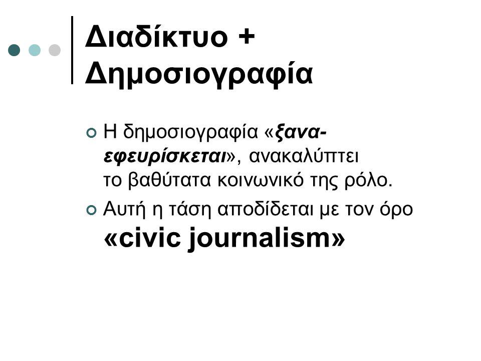 Διαδίκτυο + Δημοσιογραφία