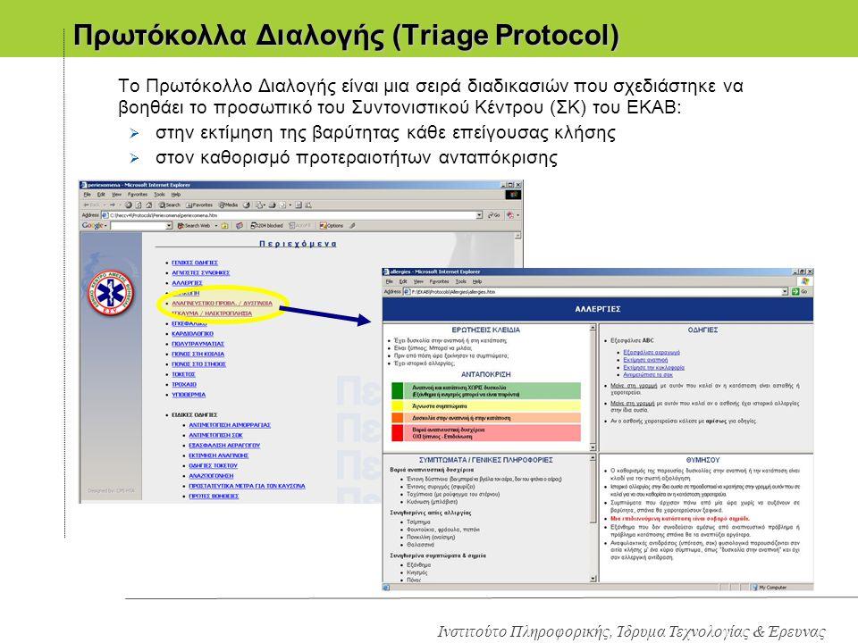 Πρωτόκολλα Διαλογής (Triage Protocol)