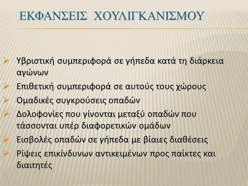 ΕΚΦΑΝΣΕΙΣ ΧΟΥΛΙΓΚΑΝΙΣΜΟΥ