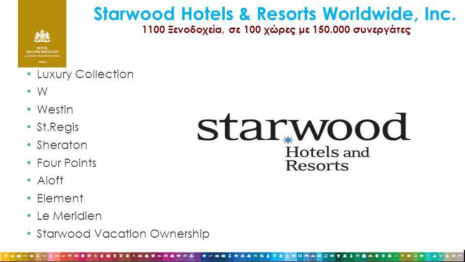 Starwood Hotels & Resorts Worldwide, Inc