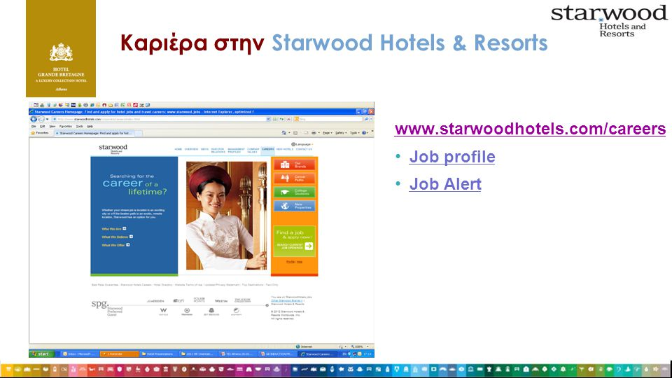 Καριέρα στην Starwood Hotels & Resorts