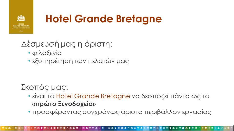 Hotel Grande Bretagne Δέσμευσή μας η άριστη: Σκοπός μας: φιλοξενία