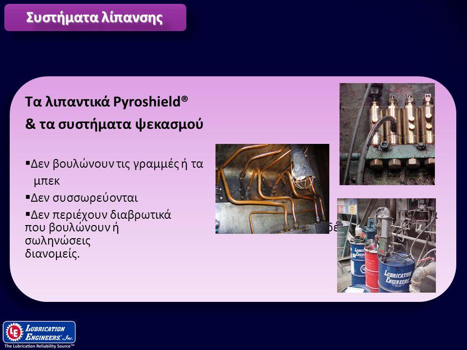 Τα λιπαντικά Pyroshield® & τα συστήματα ψεκασμού