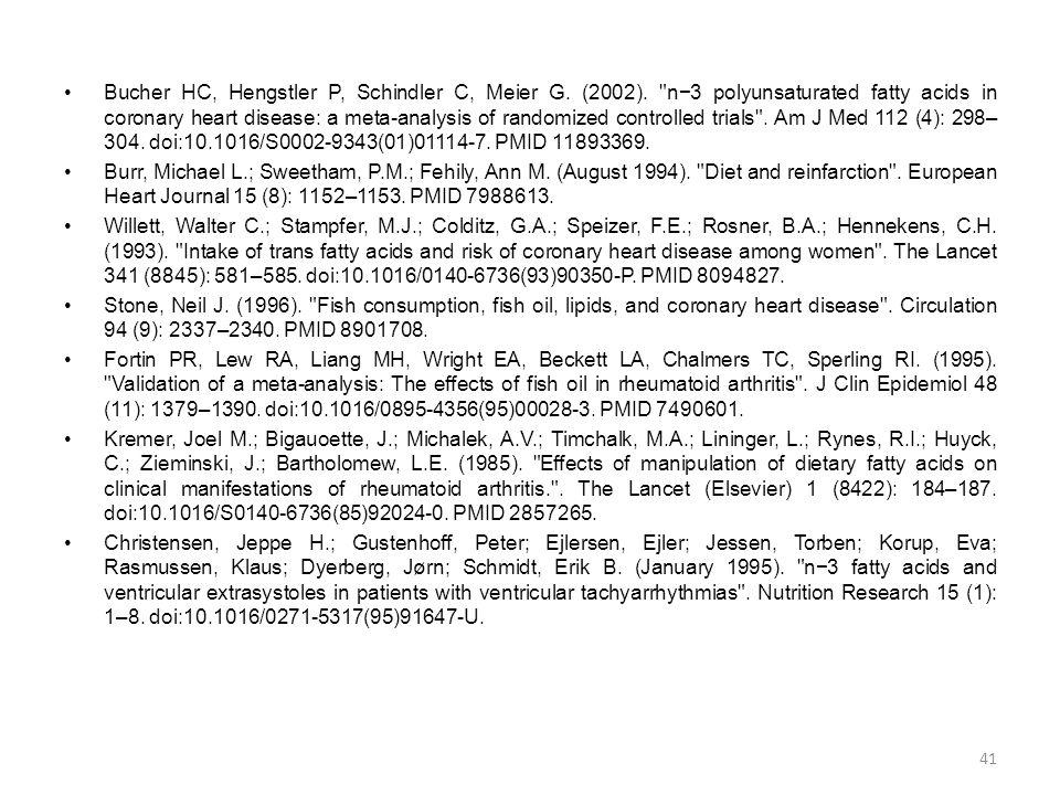 Bucher HC, Hengstler P, Schindler C, Meier G. (2002)