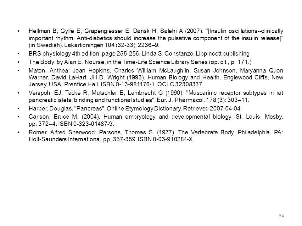 Hellman B, Gylfe E, Grapengiesser E, Dansk H, Salehi A (2007)