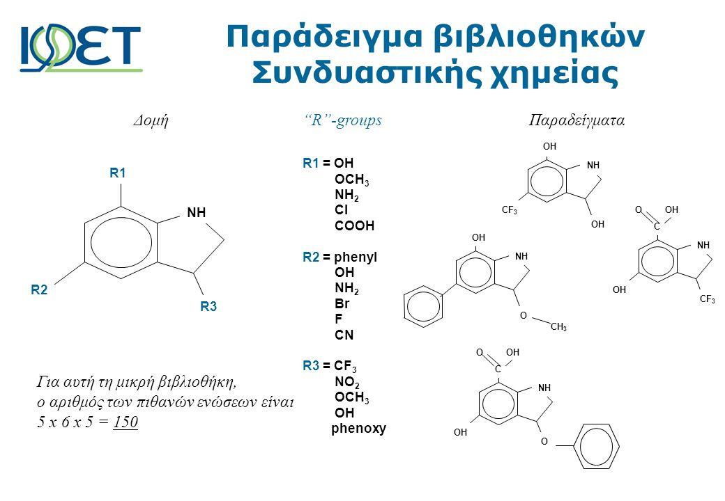 Παράδειγμα βιβλιοθηκών Συνδυαστικής χημείας