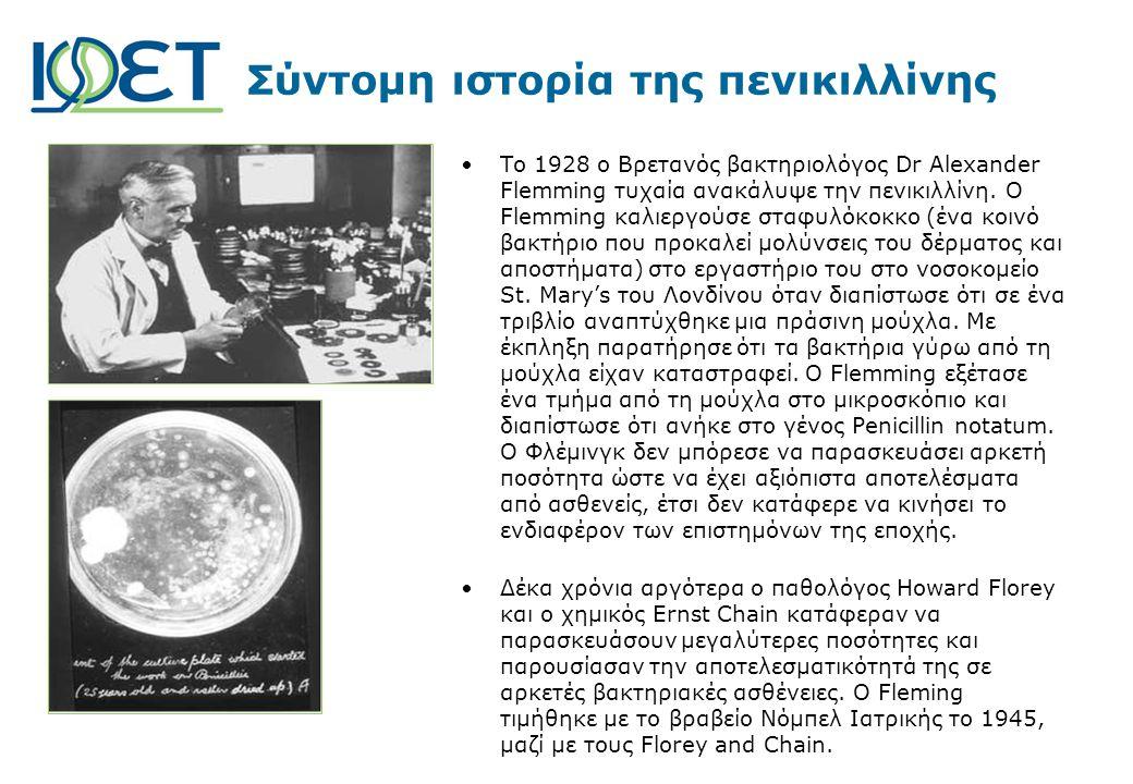 Σύντομη ιστορία της πενικιλλίνης