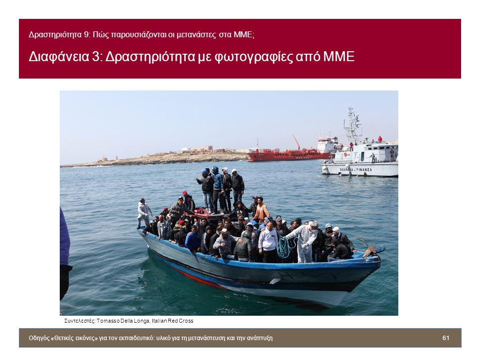Δραστηριότητα 9: Πώς παρουσιάζονται οι μετανάστες στα ΜΜΕ; Διαφάνεια 3: Δραστηριότητα με φωτογραφίες από ΜΜΕ