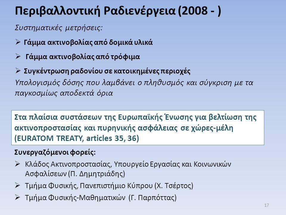 Περιβαλλοντική Ραδιενέργεια (2008 - )