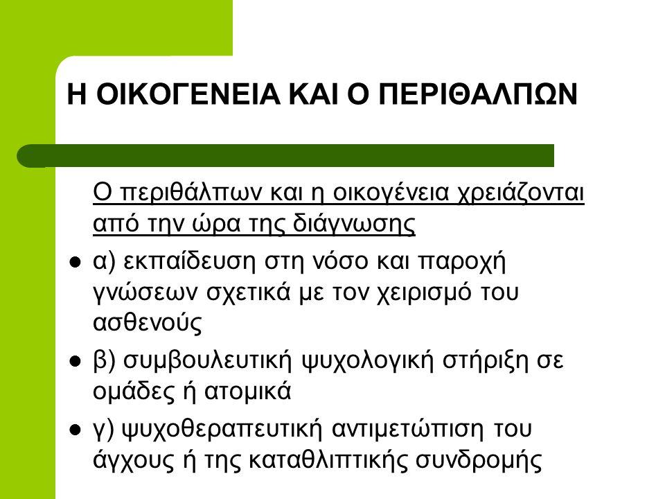 Η ΟΙΚΟΓΕΝΕΙΑ ΚΑΙ Ο ΠΕΡΙΘΑΛΠΩΝ