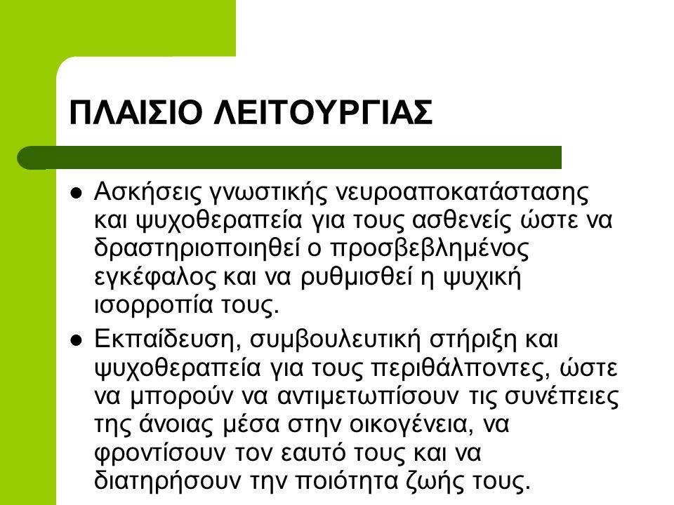 ΠΛΑΙΣΙΟ ΛΕΙΤΟΥΡΓΙΑΣ