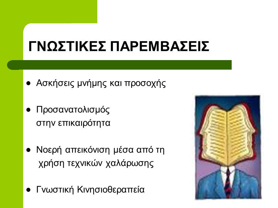 ΓΝΩΣΤΙΚΕΣ ΠΑΡΕΜΒΑΣΕΙΣ