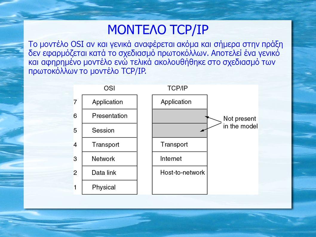 MONTEΛΟ TCP/IP