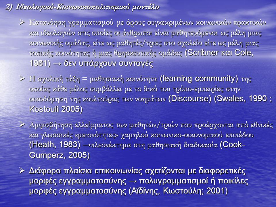Ιδεολογικό-Κοινωνικοπολιτισμικό μοντέλο