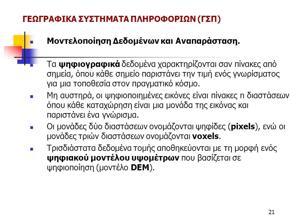 ΓΕΩΓΡΑΦΙΚΑ ΣΥΣΤΗΜΑΤΑ ΠΛΗΡΟΦΟΡΙΩΝ (ΓΣΠ)
