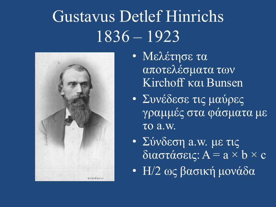 Gustavus Detlef Hinrichs 1836 – 1923