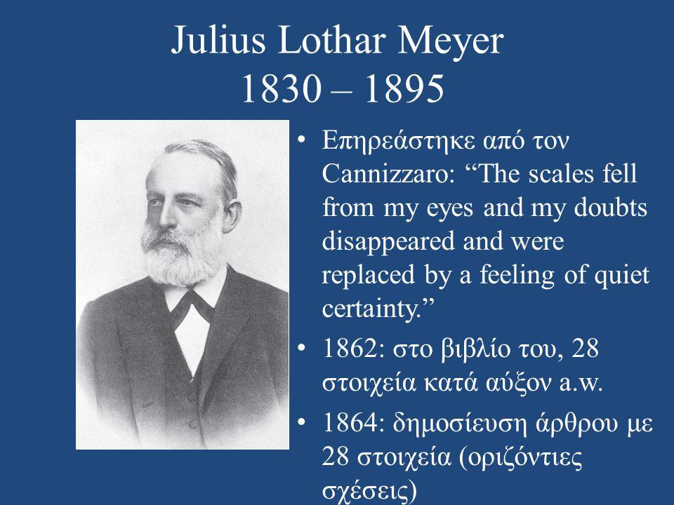Julius Lothar Meyer 1830 – 1895