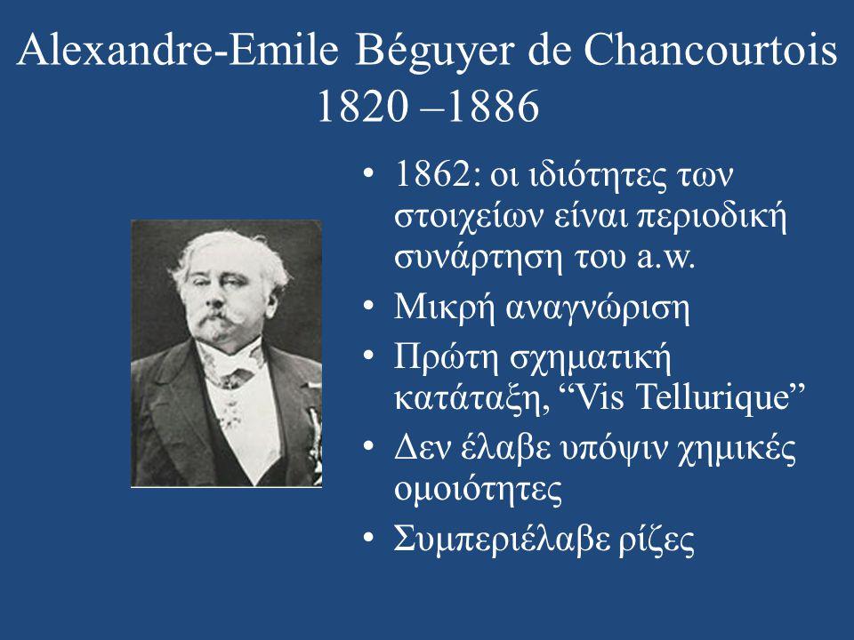 Alexandre-Emile Béguyer de Chancourtois 1820 –1886