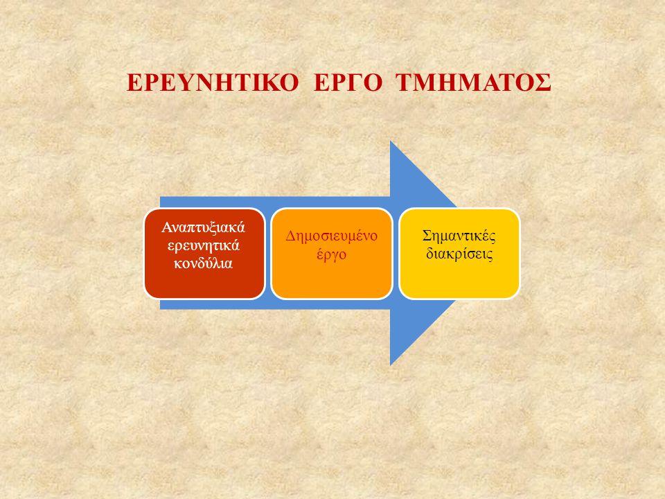 ΕΡΕΥΝΗΤΙΚΟ ΕΡΓΟ ΤΜΗΜΑΤΟΣ