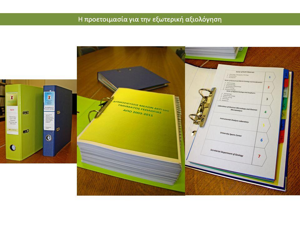 Η προετοιμασία για την εξωτερική αξιολόγηση
