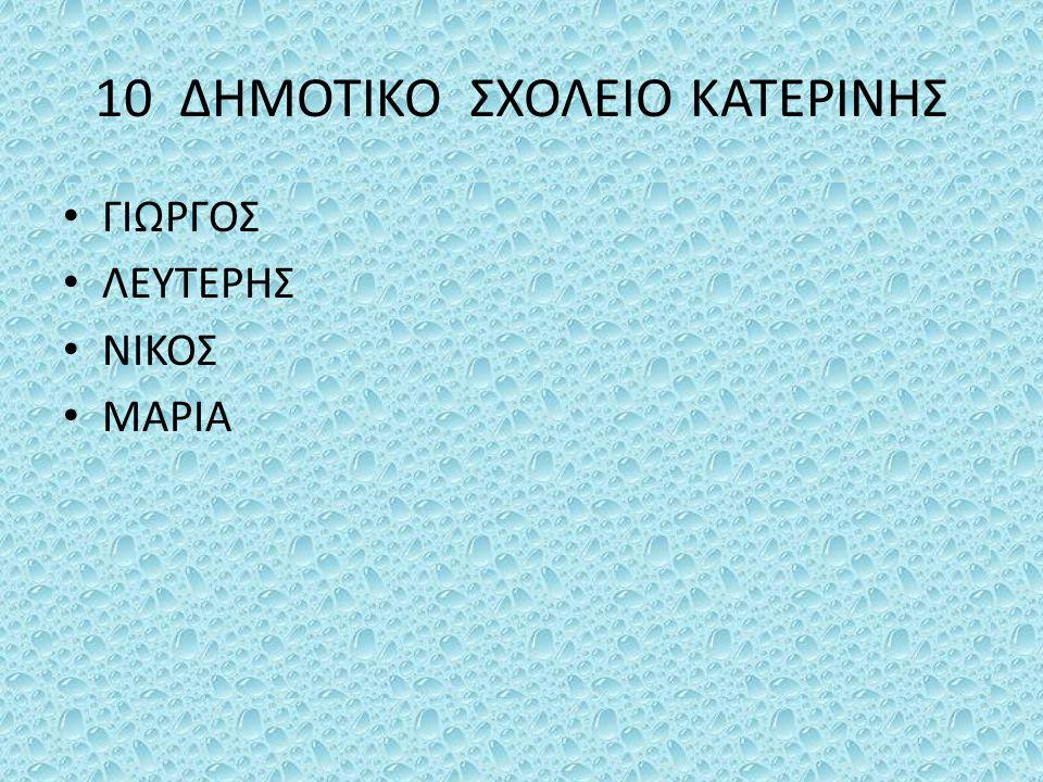 10 ΔΗΜΟΤΙΚΟ ΣΧΟΛΕΙΟ ΚΑΤΕΡΙΝΗΣ