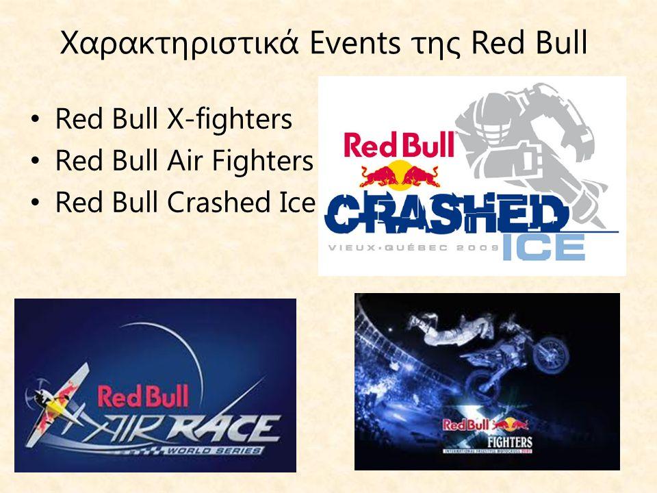 Χαρακτηριστικά Events της Red Bull
