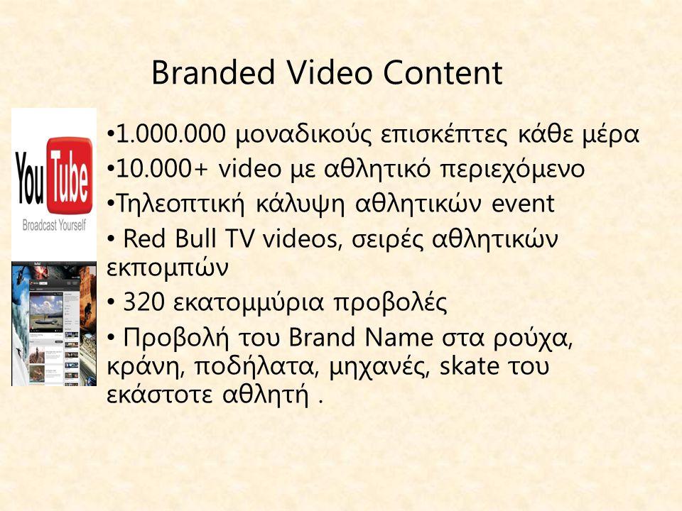 Branded Video Content 1.000.000 μοναδικούς επισκέπτες κάθε μέρα