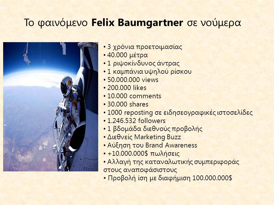 Το φαινόμενο Felix Baumgartner σε νούμερα