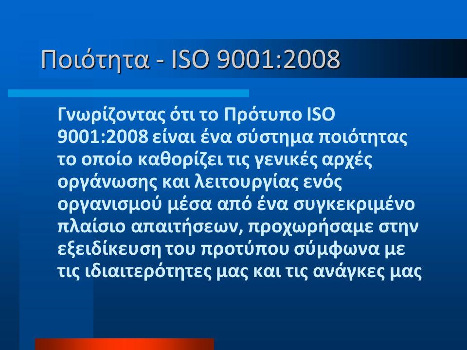 Ποιότητα - ISO 9001:2008