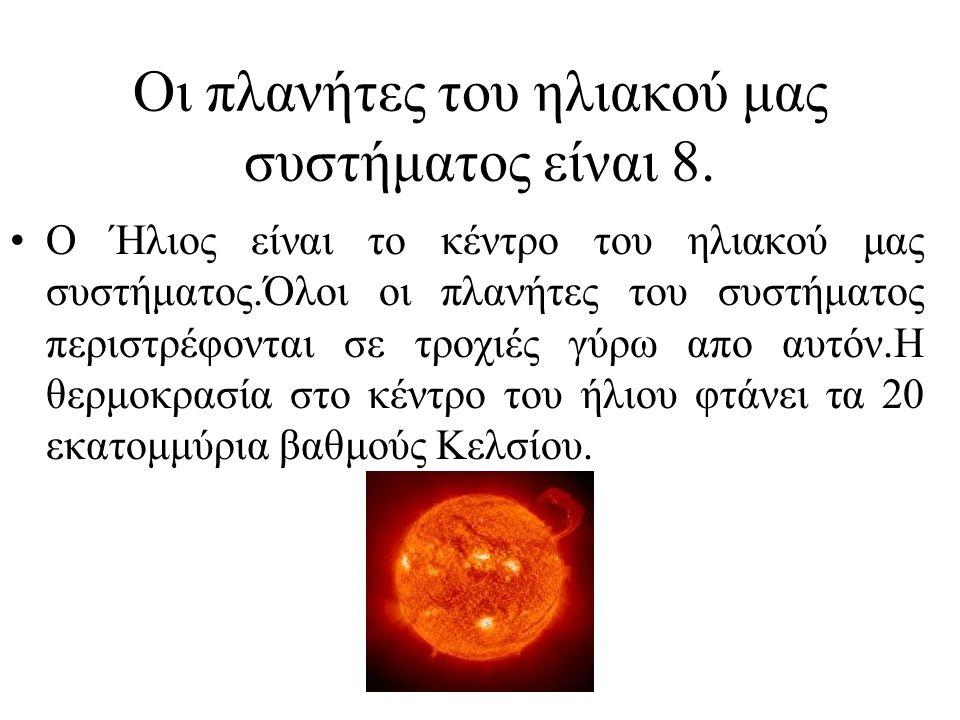 Οι πλανήτες του ηλιακού μας συστήματος είναι 8.