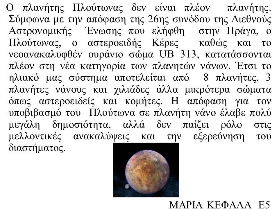 Ο πλανήτης Πλούτωνας δεν είναι πλέον πλανήτης