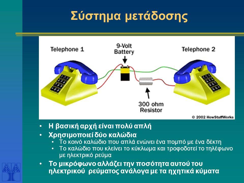 Σύστημα μετάδοσης Η βασική αρχή είναι πολύ απλή