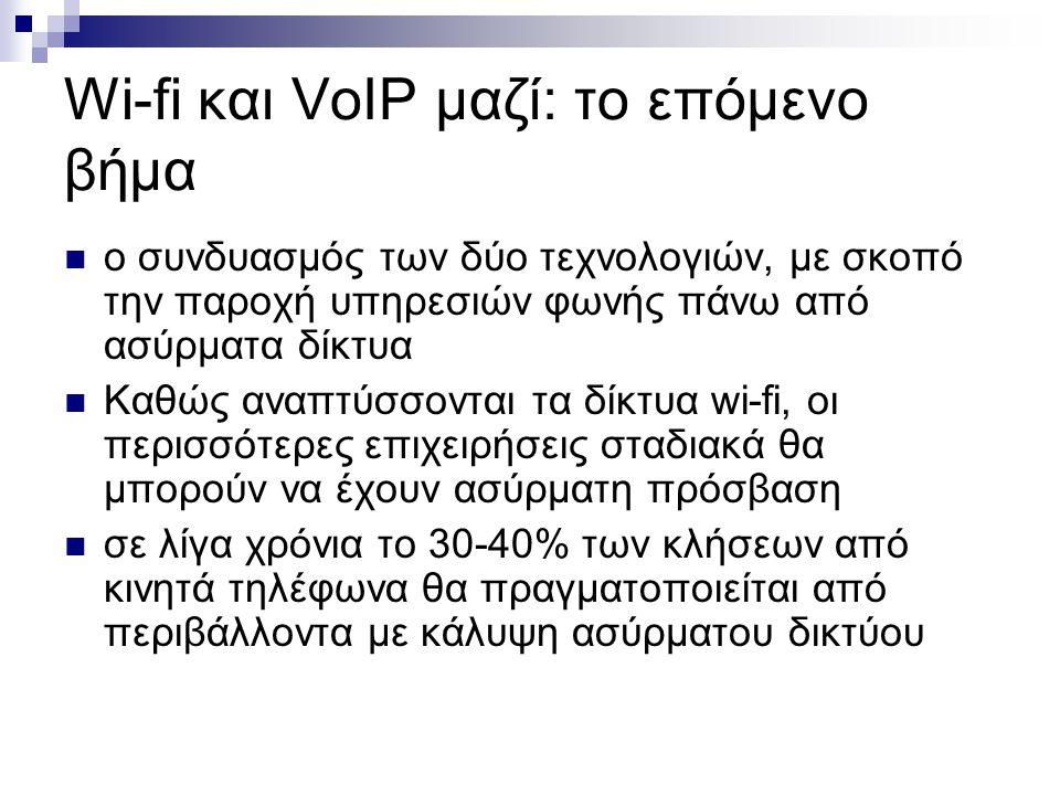 Wi-fi και VoIP μαζί: το επόμενο βήμα