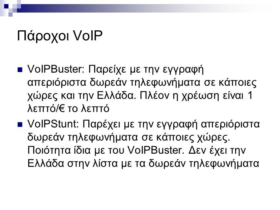 Πάροχοι VoIP