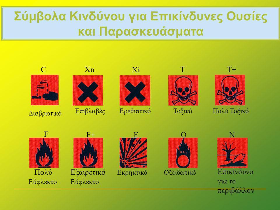 Σύμβολα Κινδύνου για Επικίνδυνες Ουσίες και Παρασκευάσματα