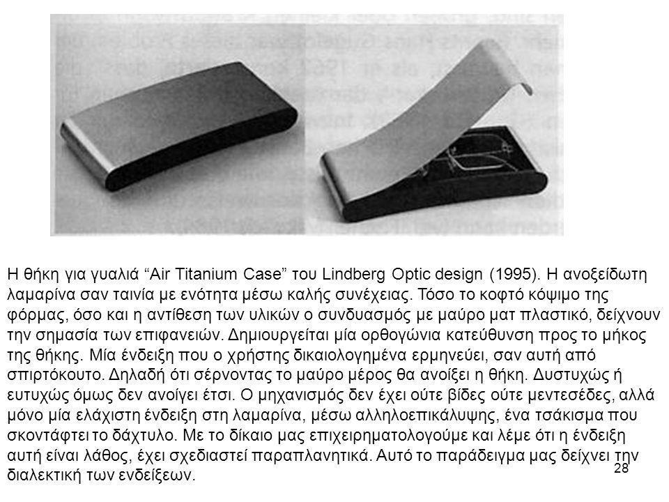 Η θήκη για γυαλιά Air Titanium Case του Lindberg Optic design (1995)