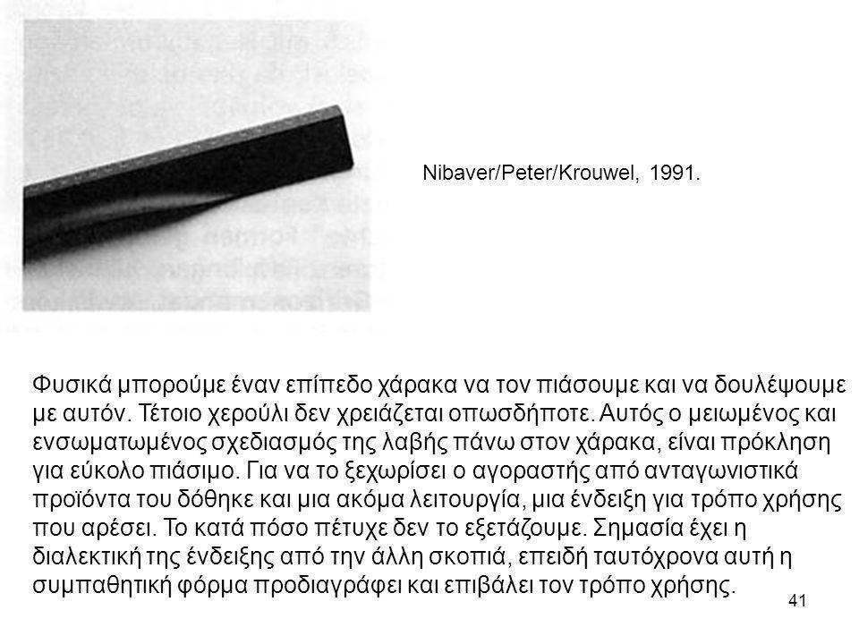 Nibaver/Peter/Krouwel, 1991.