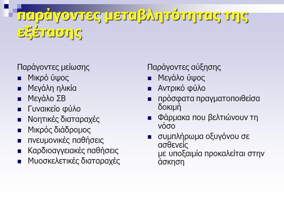 παράγοντες μεταβλητότητας της εξέτασης