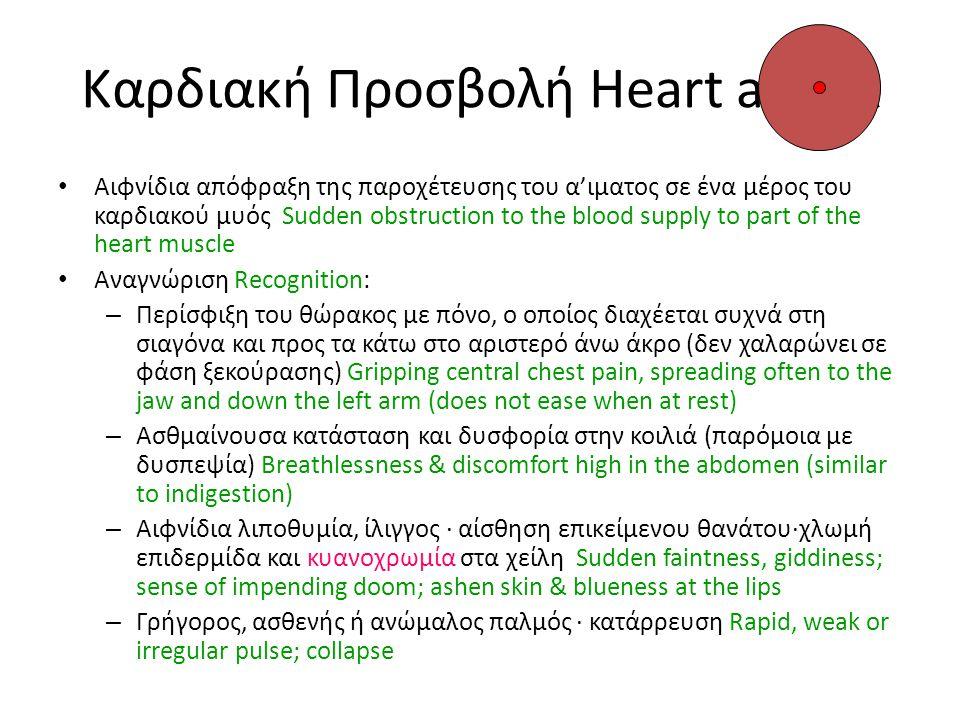 Καρδιακή Προσβολή Heart attack