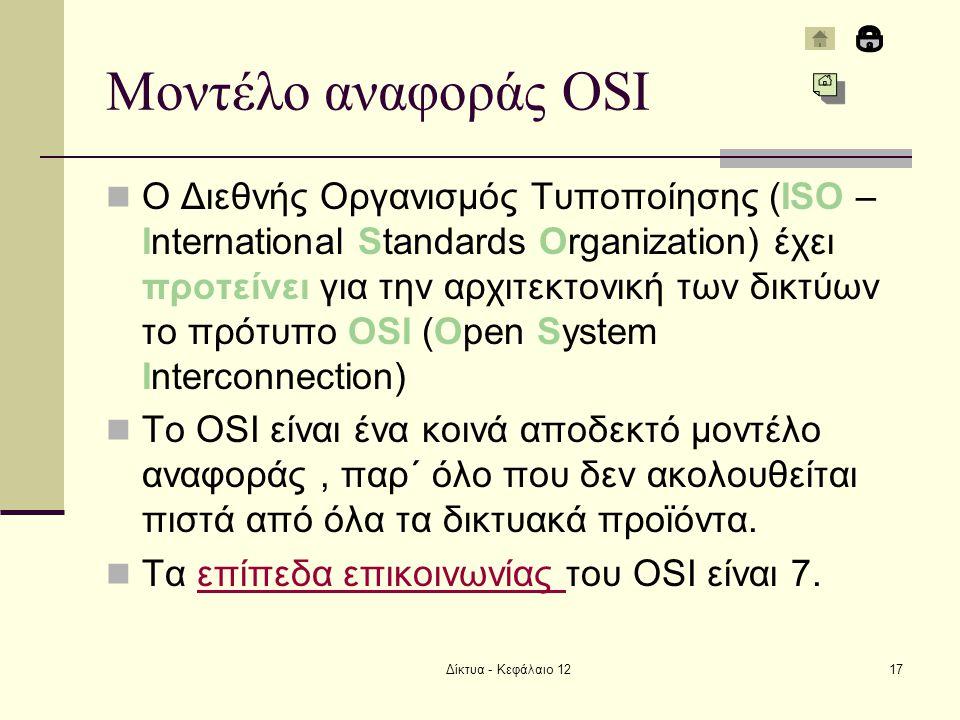 Μοντέλο αναφοράς OSI