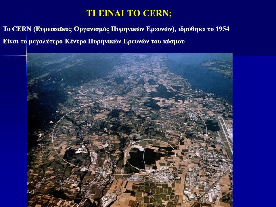 ΤΙ ΕΙΝΑΙ ΤΟ CERN; To CERN (Ευρωπαϊκός Οργανισμός Πυρηνικών Ερευνών), ιδρύθηκε το 1954.