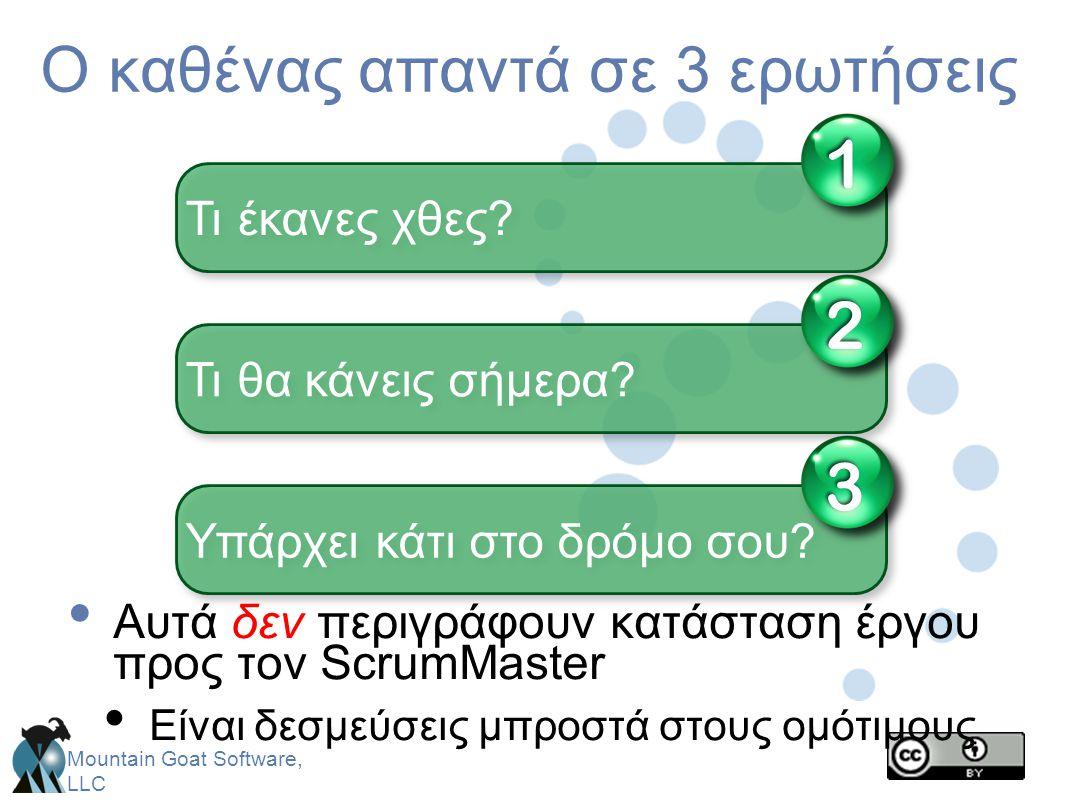 Ο καθένας απαντά σε 3 ερωτήσεις