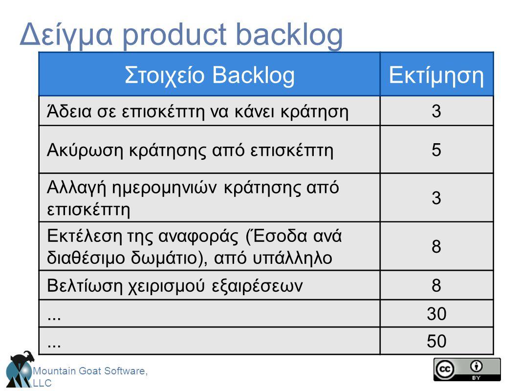 Δείγμα product backlog