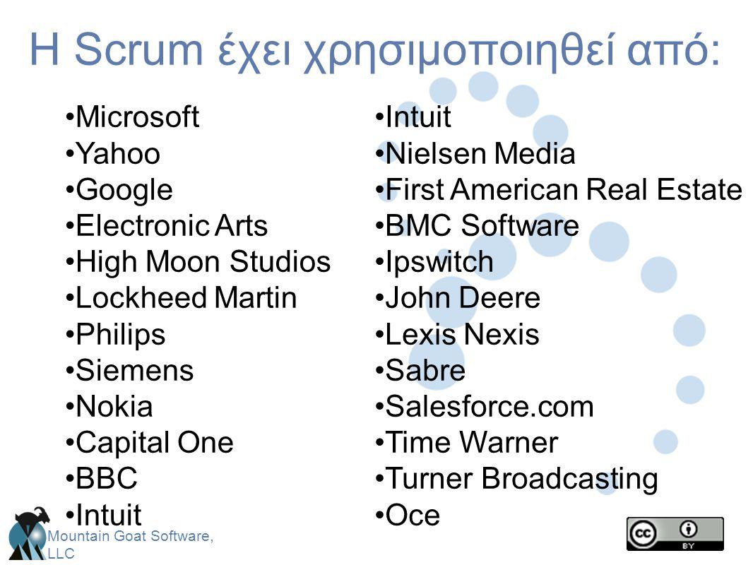 H Scrum έχει χρησιμοποιηθεί από: