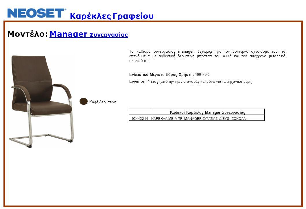 Κωδικοί Καρέκλας Manager Συνεργασίας