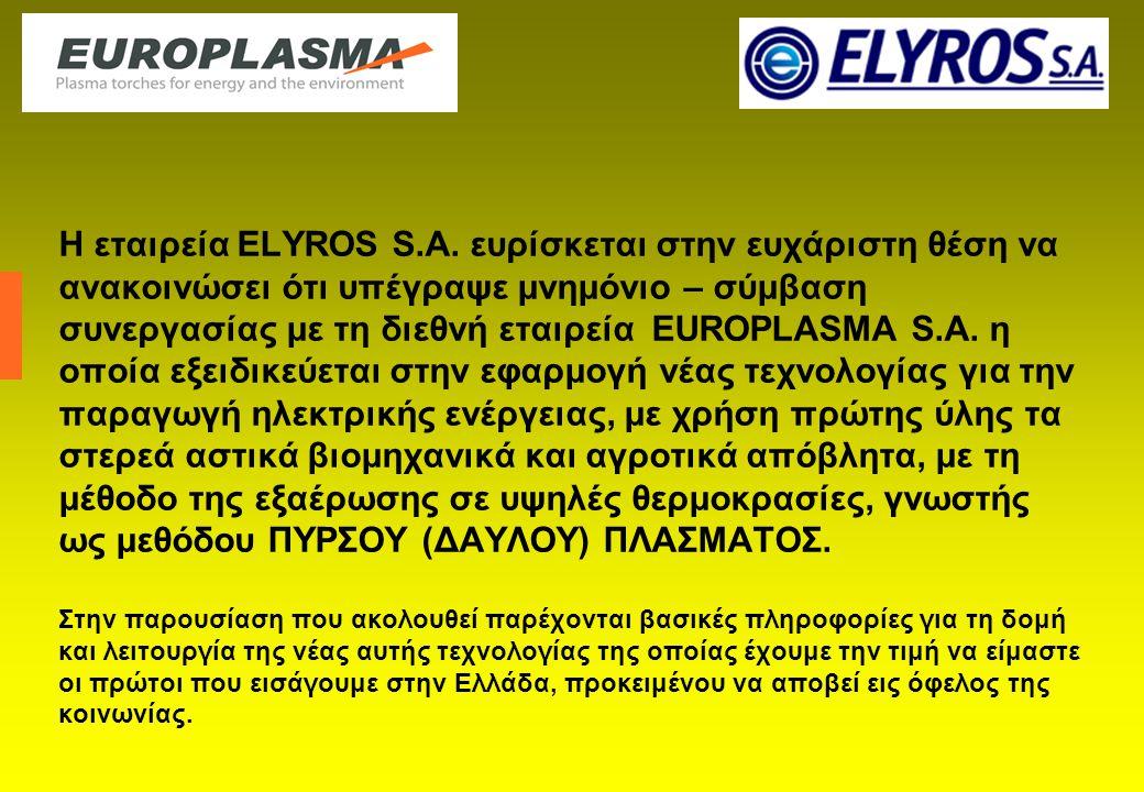 Η εταιρεία ELYROS S.A.